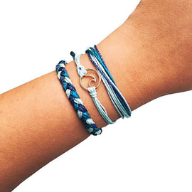 3-in-1 Blue Waves Armbandjes-Bright & Blossom