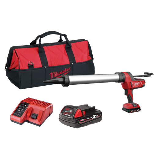 Milwaukee C18PCG600A-201B M18™ Cordless 600ml Aluminum Barrel Caulk and Adhesive Gun Kit