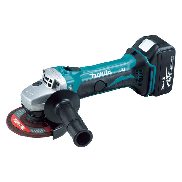 Makita DGA452RFE 18V Mobile 115mm Angle Grinder Kit