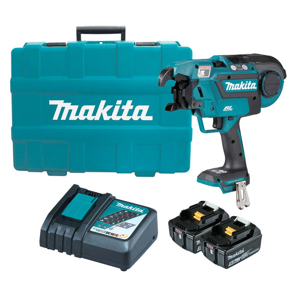 Makita DTR180RTE 18V Brushless* Rebar Tying Tool Kit
