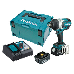 "Makita DTW1002RTJ 18V Mobile Brushless 1/2"" Impact Wrench Kit"