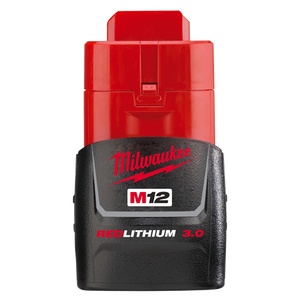 Milwaukee M12B3 M12 3.0Ah REDLITHIUM-ION™ Compact Battery