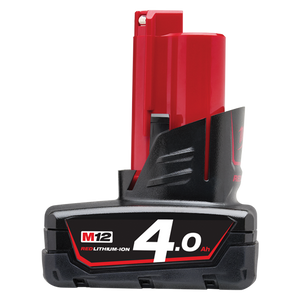 Milwaukee M12B4 M12 4.0Ah REDLITHIUM-ION™ Battery Pack
