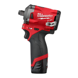 "Milwaukee M12FIWF12-202B M12 FUEL® 1/2"" Stubby Impact Wrench Kit"
