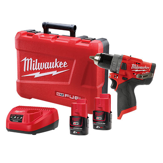 Milwaukee M12FPD-202C M12 FUEL™ 13mm Hammer Drill/Driver Kit