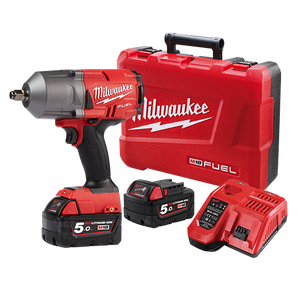 "Milwaukee M18FHIWF12-502C M18 FUEL™ 1/2"" High Torque Impact Wrench with Friction Ring Kit"