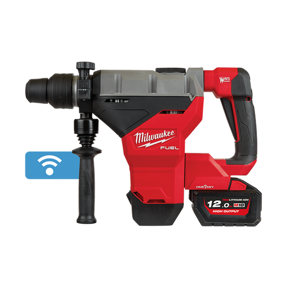 Milwaukee M18FHM-122C M18 FUEL® 44MM SDS MAX ROTARY HAMMER KIT W/ ONE-KEY™