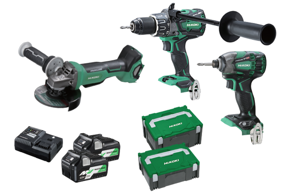 HiKOKI KC36DDBL(HRZ) 3 Piece MultiVolt Brushless Combination Pack