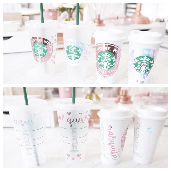 Starbucks Tumblers and Decals