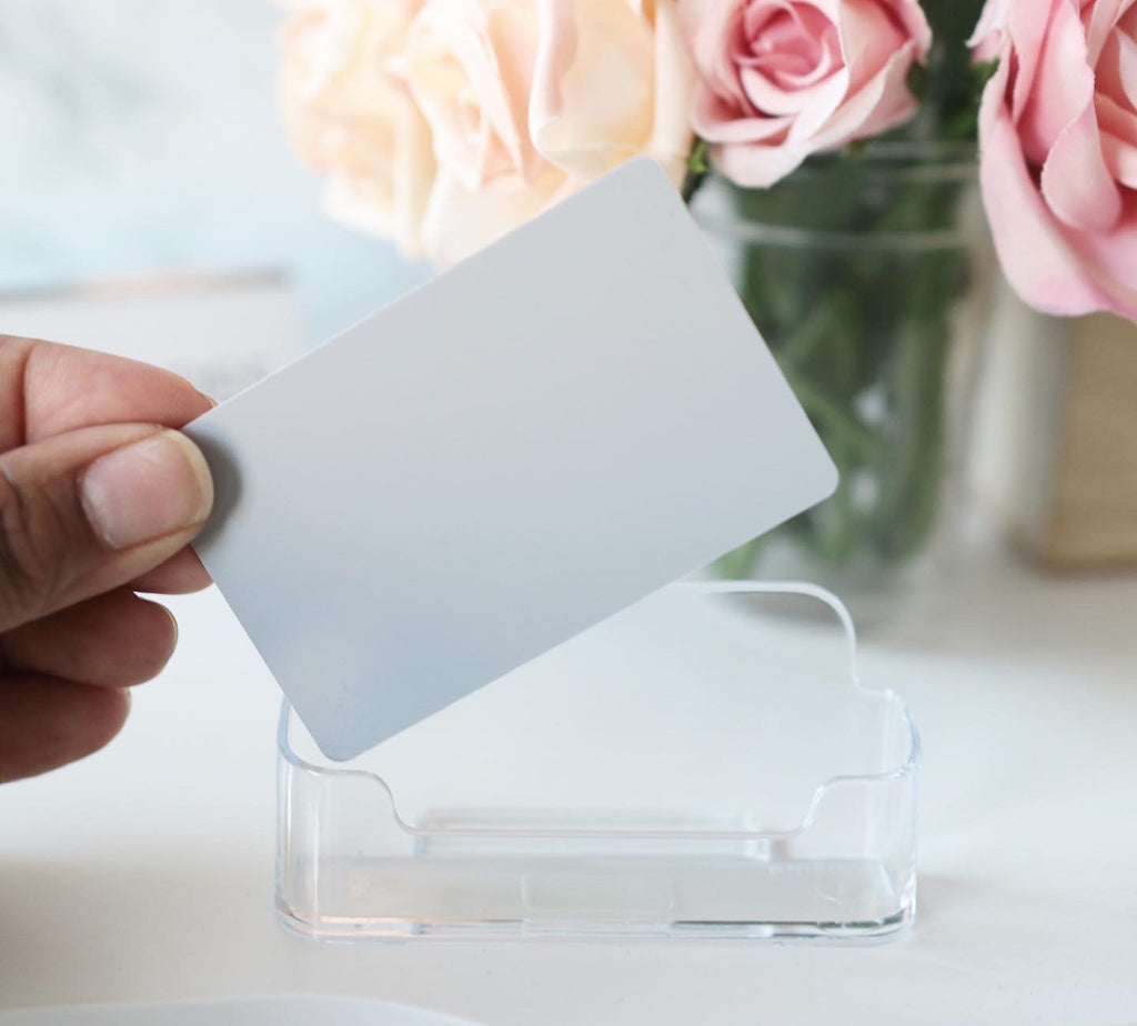 Plastic SILVER Task Card