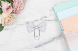 Grey Single Bow Paper Paper Clip