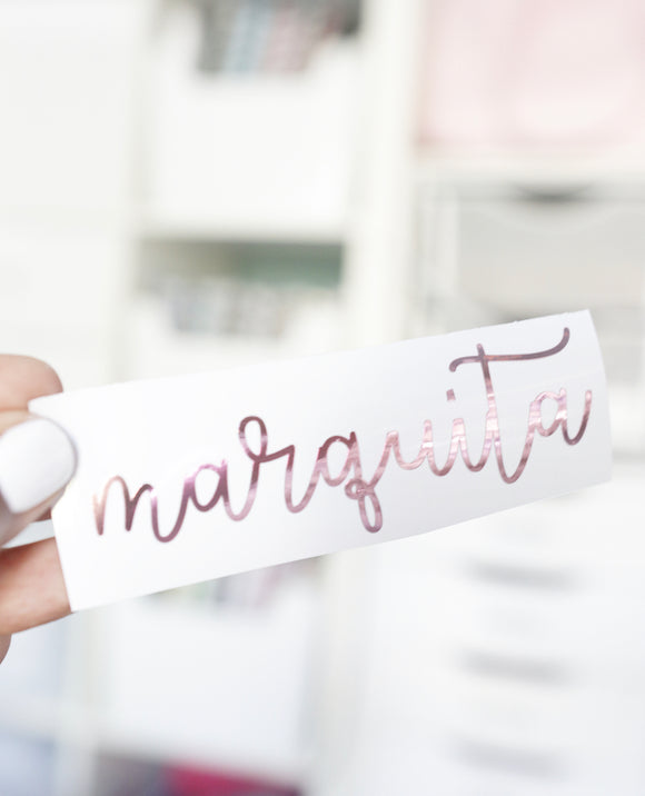 Personalized Vinyl Name Decals {SCRIPT #2}