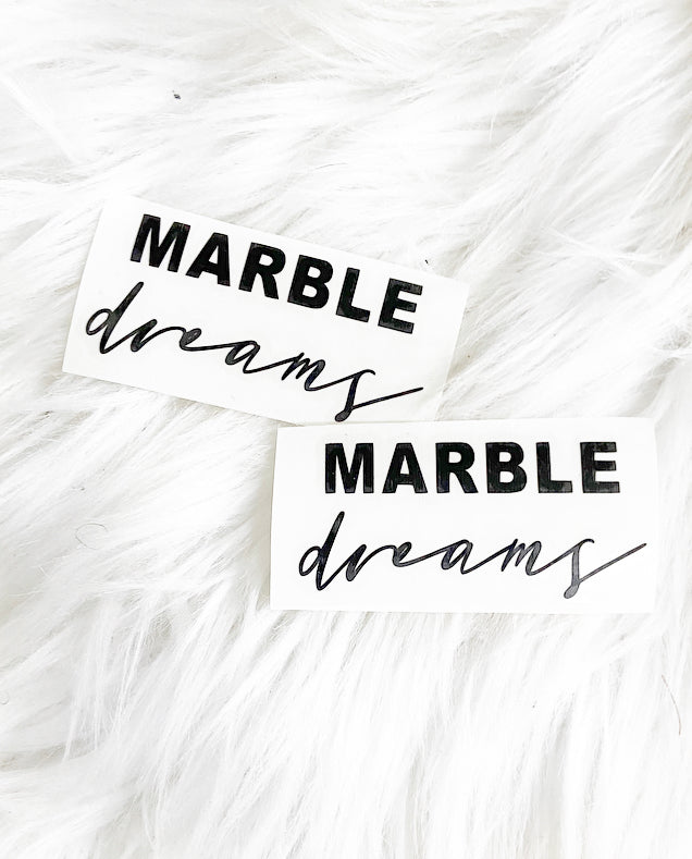 Marble Dreams Vinyl Die Cut Sticker