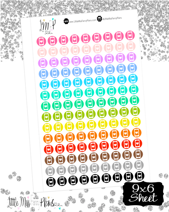 Mobile Phone Dots Stickers <Little Dots>
