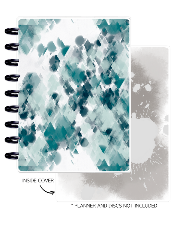 Cover Set of 2 <Double Sided Print> Bookwork Patterned