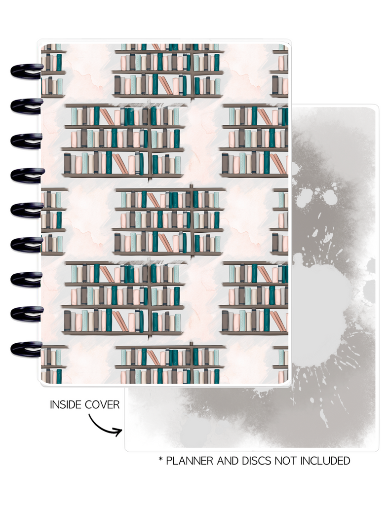 Cover Set of 2 <Double Sided Print> Book Shelf