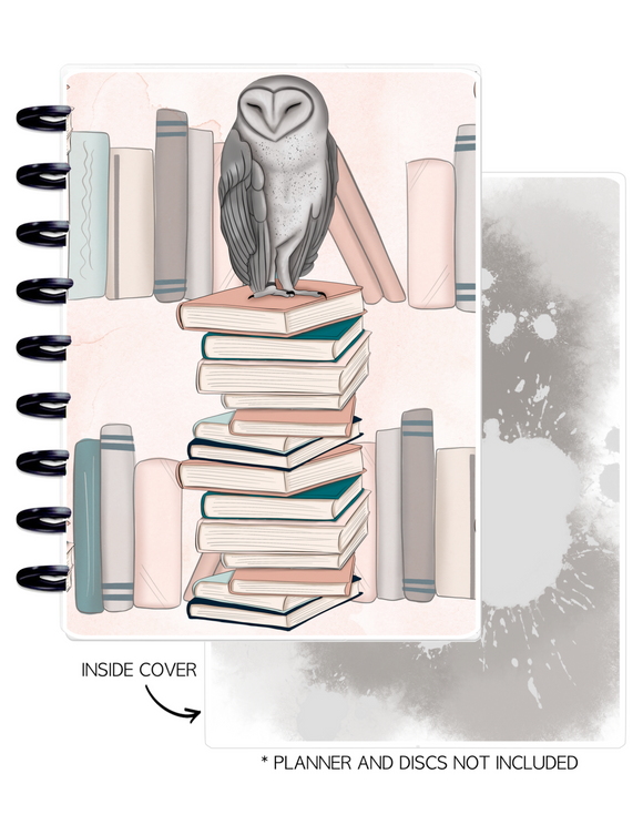 Cover Set of 2 <Double Sided Print> Books and Owl