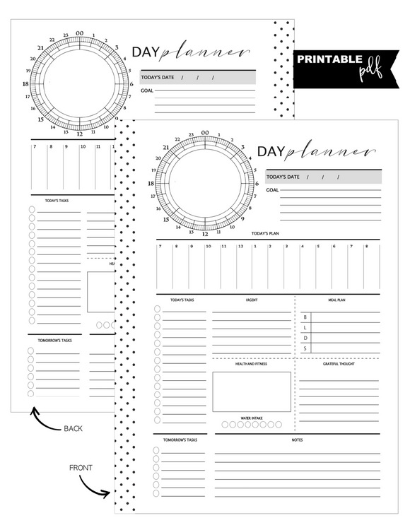 A5 Chronodex Day Planner Fill Paper <PRINTABLE PDF>