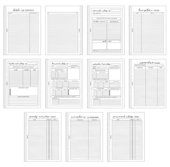 A5 Size Faith Main Set Workbook