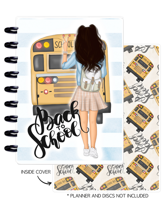 Cover Set of 2 BACK 2 SCHOOL GIRLS <Double Sided Print>