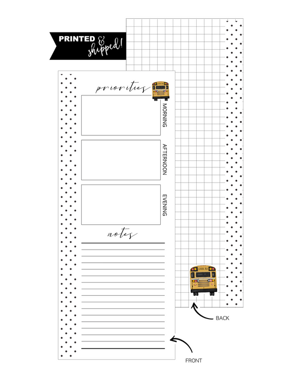 Priorities Bus Icon Fill Paper <PRINTED AND SHIPPED> HALF SHEET