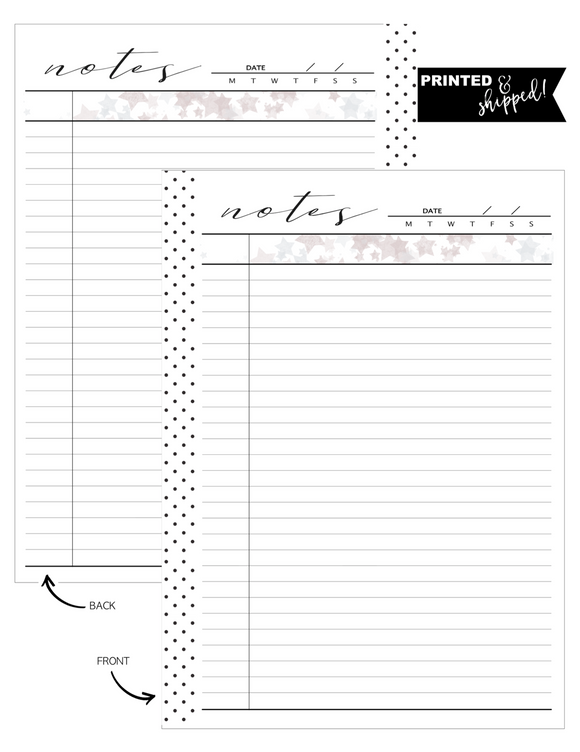 Notes w/ Stars Fill Paper <PRINTED AND SHIPPED>