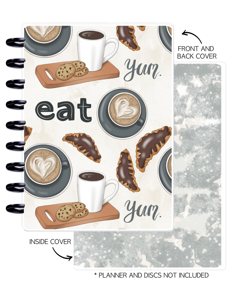 Cover Set of SIMPLY DELICIOUS EAT ICONS <Double Sided Print>