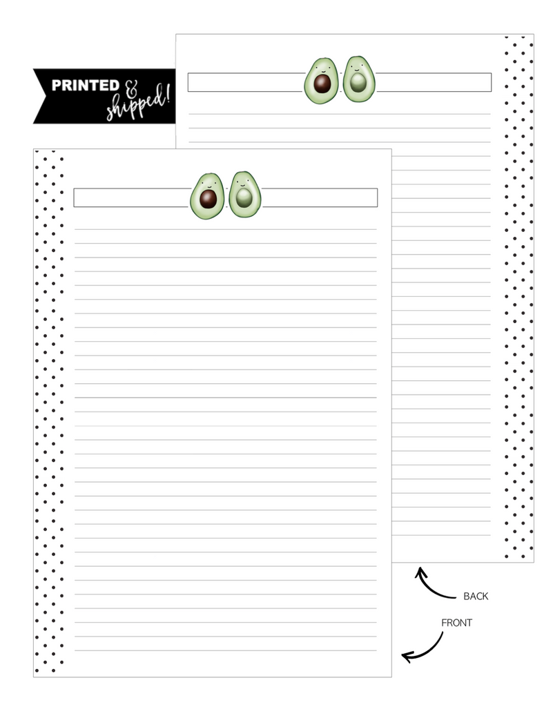 Go Green Avocado Fill Paper Inserts <PRINTED AND SHIPPED>
