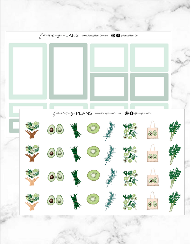Go Green Set GREENS| BOXES + ICONS