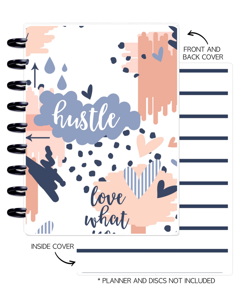 Cover Set of 2 GET FIT Hustle  <Double Sided Print>