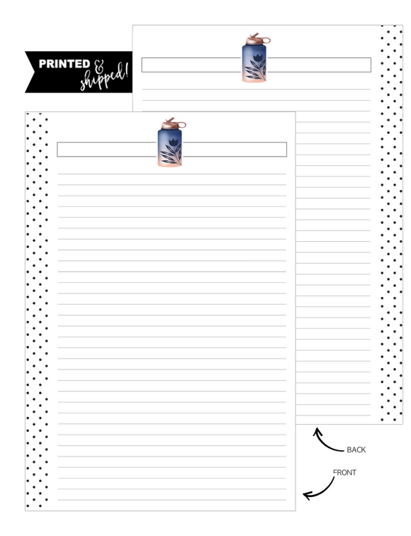 Water Bottle GET FIT Fill Paper Inserts <PRINTED AND SHIPPED>