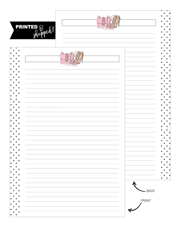 Accessories Pretty In Pink Fill Paper Inserts <PRINTED AND SHIPPED>