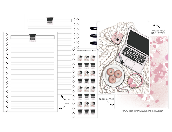 Planner Cover Set 11pc KIT - PRETTY IN PINK <Double Sided Print>