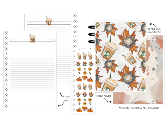 Planner Cover Set 11pc KIT - AUTUMN VIBES <Double Sided Print>