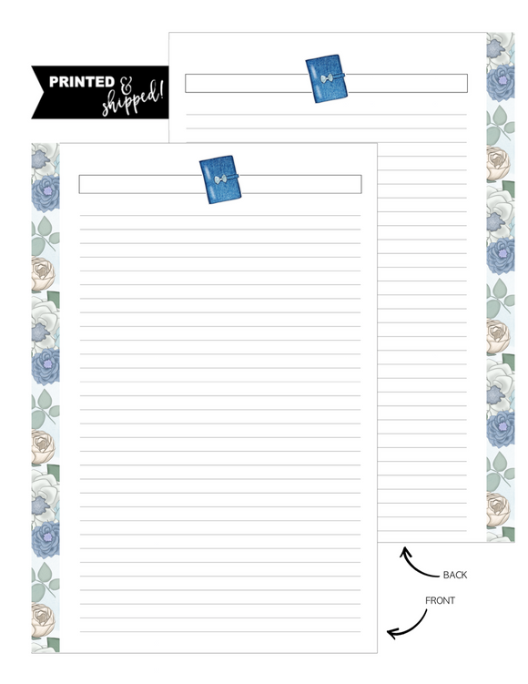 Planner Denim Dreams Fill Paper <PRINTED AND SHIPPED>