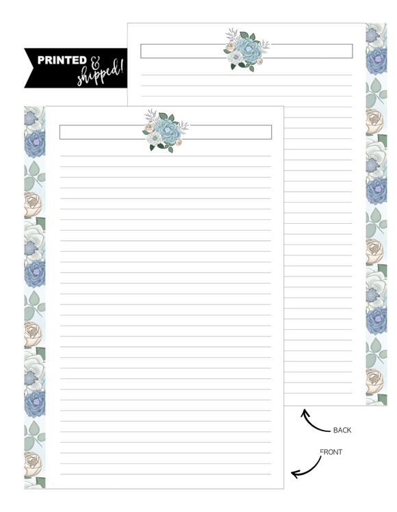 Floral Denim Dreams Fill Paper <PRINTED AND SHIPPED>