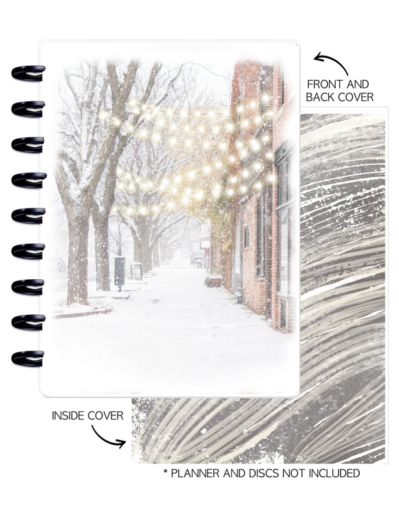 Cover Set of 2 WINTER VIBES Winer Scene <Double Sided Print>