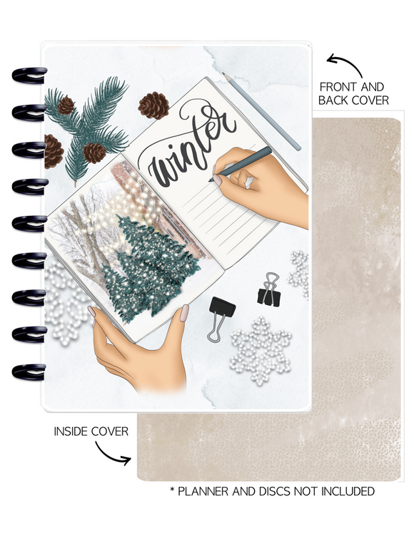 Cover Set of 2 WINTER VIBES Journal <Double Sided Print>