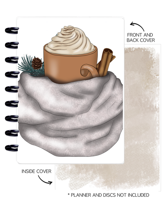 Cover Set of 2 WINTER VIBES Hot Chocolate <Double Sided Print>