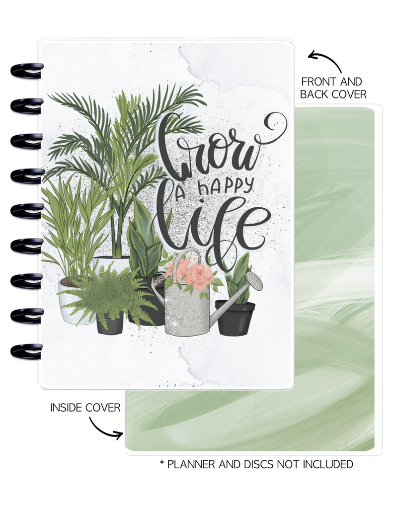 Cover Set of 2 PLANT DREAMS Grow a Happy Life <Double Sided Print>