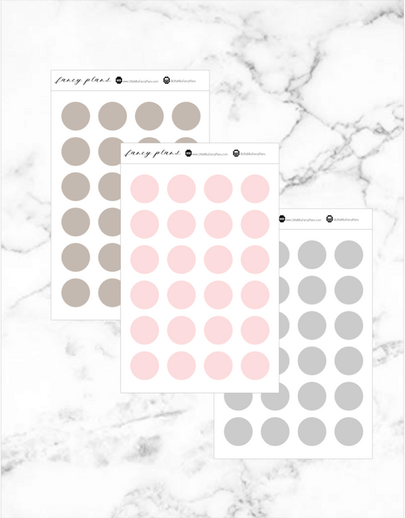 Matte Tiny Dot StickerS | 2 X 3 Sheet