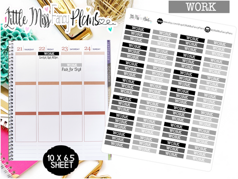 Work Header Stickers-Neutral | Erin Condren, Happy Planner Stickers, Personal Planner