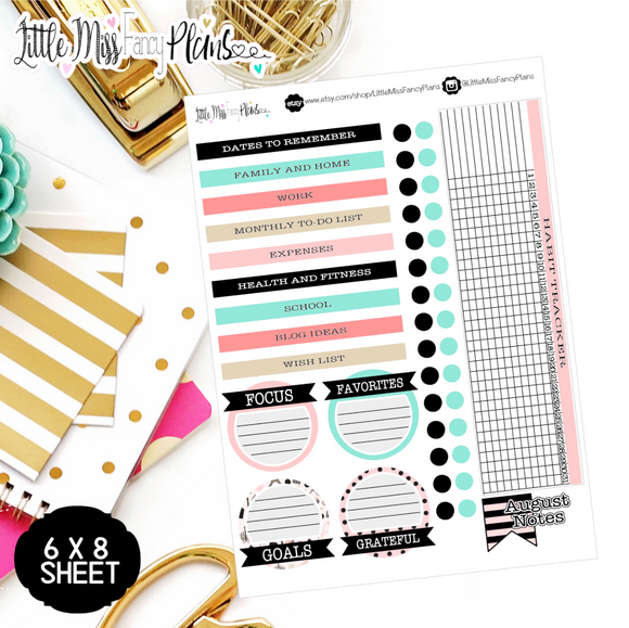 Parisian EC Notes Page Kit | Erin Condren