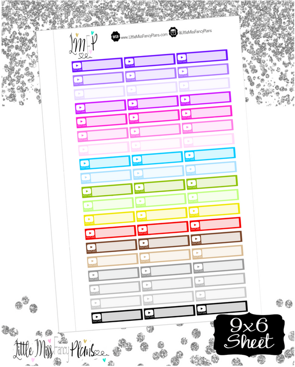 Youtube Label Stickers<Social Media> | Erin Condren, Happy Planner Stickers, Personal Planner