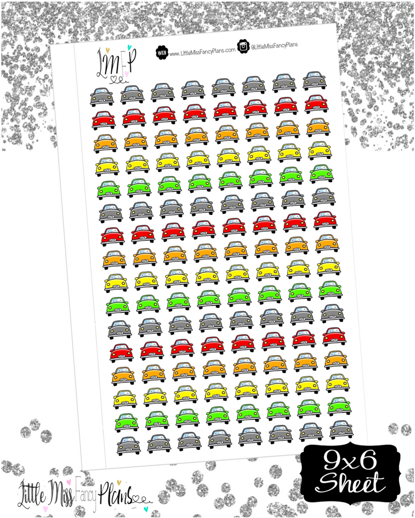 Car Icon Stickers <Little Icons> | Erin Condren, Happy Planner Stickers, Personal Planner