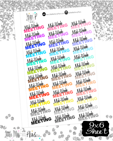 Midweek Meeting Stickers | Erin Condren, Happy Planner Stickers, Personal Planner