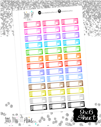 To Do/Done Stickers <Label Boxes> | Erin Condren, Happy Planner Stickers, Personal Planner