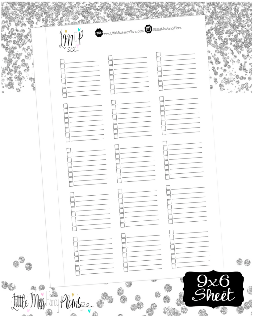 Checklist Box Stickers (Half Boxes) - Erin Condrin, Happy Planner Stickers, Personal Planner