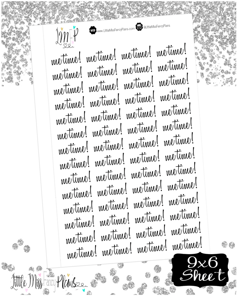 Me Time! Stickers <Wording Stickers>
