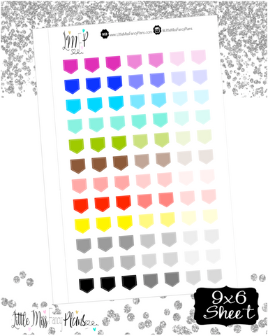 Tag Shaped Flag Stickers | Erin Condren, Happy Planner Stickers, Personal Planner